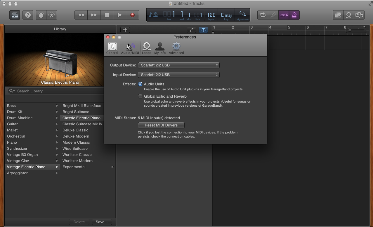 Garageband Select Interface