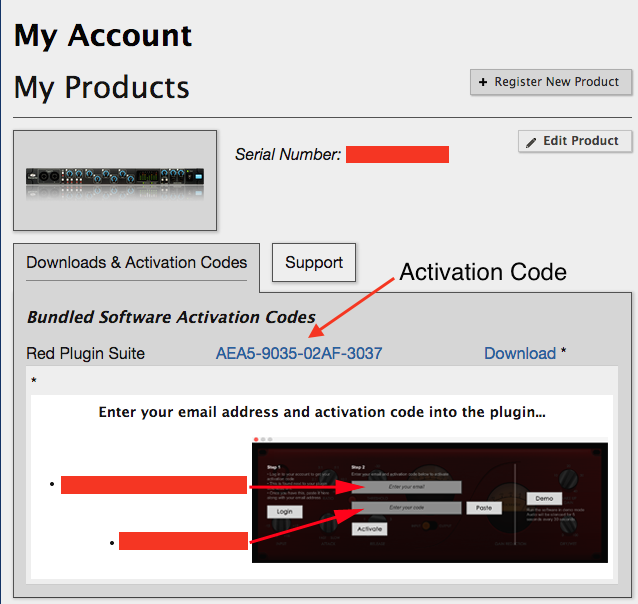 Where is my Red Plug-In Suite activation code? – Focusrite Audio